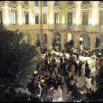 Soirée Versace à Milan, le 25/09/09, à l'occasion de la Fashion Week.