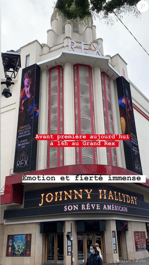 Laeticia Hallyday au Grand Rex pour l'avant-première du film documentaire consacré au dernier road-trip américain de Johnny, à Paris le 21 octobre 2020.