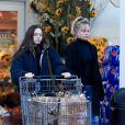 Exclusif - Melanie Griffith et sa fille Stella Banderas sont allées faire des courses chez Bristol Farms à West Hollywood, le 27 novembre 2019.