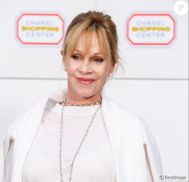 "Melanie Griffith - Photocall du défilé de mode ""Chanel"" au Grand Palais à Paris."