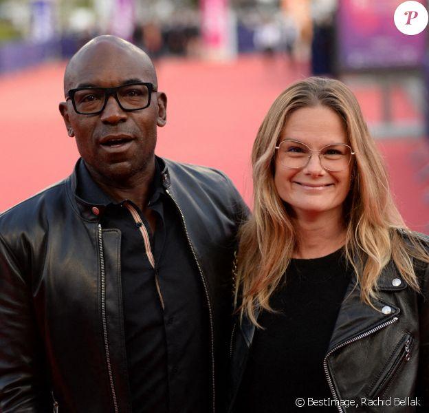 """Lucien Jean-Baptiste et sa femme Aurélie Nollet à la première de """"ADN"""" lors du 46ème Festival du Cinéma Américain de Deauville © Rachid Bellak/Bestimage"""