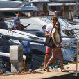 Exclusif - Le champion de tennis allemand Alexander Zverev et sa compagne Brenda Patea arrivent à Zadar à bord d'un yacht à l'occasion du tournoi de tennis Adria Tour, le 17 juin 2020.