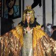 Heidi Klum en costume de Cléopatre lors de sa fête post Halloween à New York le 1er décembre 2012.