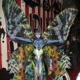 """Heidi Klum déguisée en papillon alien pour la 15ème soirée """"Moto X"""" d'Halloween parrainée par svedka Vodka au TAO Downtown le 31 Octobre 2014 à New York."""