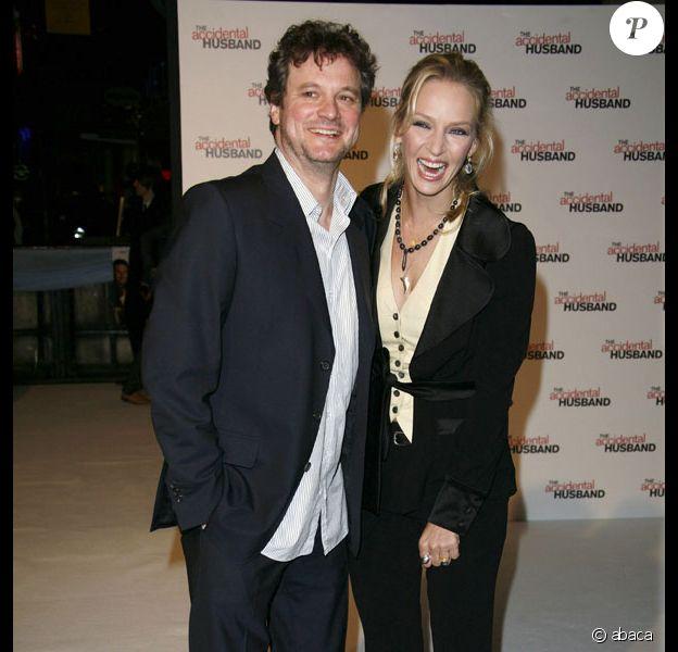 Uma Thurman et Colin Firth à l'avant-première de The Accidental Husband à Londres le 13/02/08
