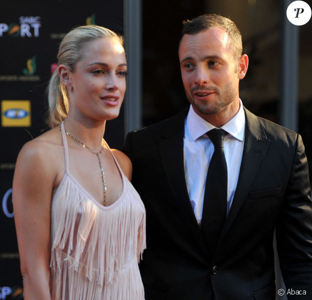 Oscar Pistorius et Reeva Steenkamp aux Feather Awards à Johannesburg.
