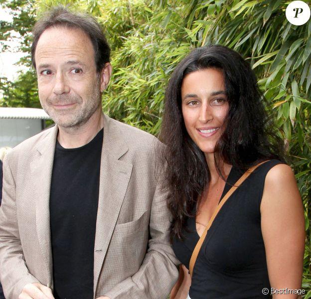 Pauline Lévêque et son homme Marc - People à la quinzième journée des Internationaux de Roland Garros.