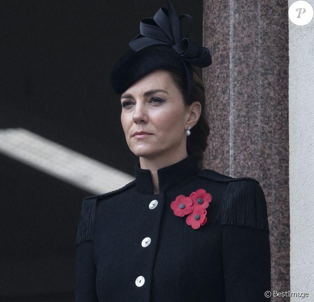 Catherine Kate Middleton, duchesse de Cambridge lors de la cérémonie de la journée du souvenir (Remembrance Day) à Londres.