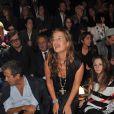 Jade Jagger au défilé Lanvin lors de la Fashion Week parisienne le 2 octobre 2009 à la Halle Freyssinet