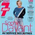 """Sophie Davant en couverture du magazine """"Télé 7 jours"""", le 16 novembre 2020."""