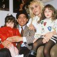 Diego Maradona avec sa femme Claudia et ses filles en Argentine