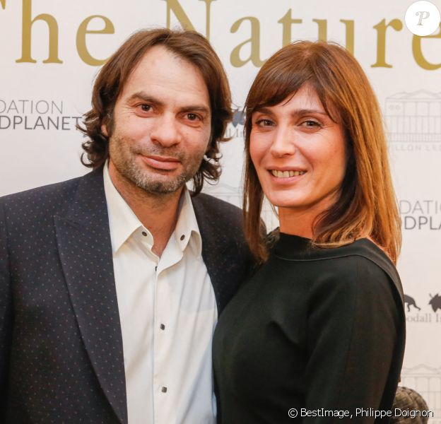 "Exclusif - Christophe Dominici et sa femme Lauretta - Soirée ""The Nature Gala - Fondation GoodPlanet"" au Pavillon Ledoyen à Paris. © Philippe Doignon/Bestimage"