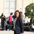 Cécile Duflot au lancement de la conférence des Nations-Unis sur les changements climatiques, COP 21 , au Palais de l'Élysée à Paris le 10 septembre 2015.