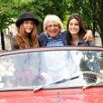 Solweig Lizlow, Lara Micheli-Beigbeder et Véronique (Véronique et Davina) - Presentation des deux marraines Solweig Lizlow et Lara Micheli-Beigbeder du 14 eme Rallye des Princesses Paris, le 01 juin 2013