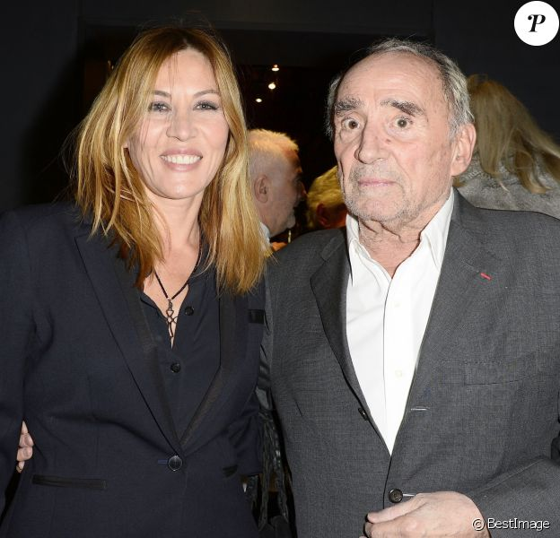Mathilde Seigner et Claude Brasseur - Soirée pour les 12 ans de l'Atelier du Maître Albert à Paris, il y a cinq ans.