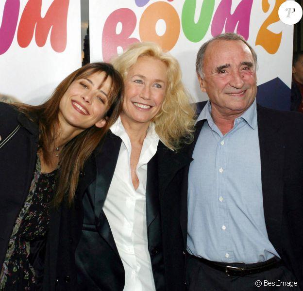 Sophie Marceau, Brigitte Fossey et Claude Brasseur, au début des années 2000.