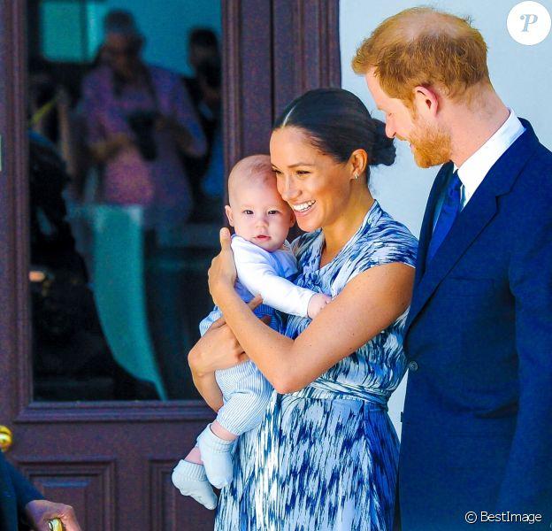 Le prince Harry et Meghan Markle présentent leur fils Archie à Desmond Tutu à Cape Town, Afrique du Sud