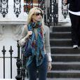 Claudia Schiffer à Londres, le 12 octobre 2009