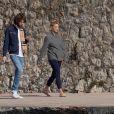 """Exclusif - Romain Duris et Virginie Efira sur le tournage du film """"En attendant Bojangles"""" à l'hôtel """"Belles Rives"""" de Juan-les-Pins. Le 21 février 2020."""
