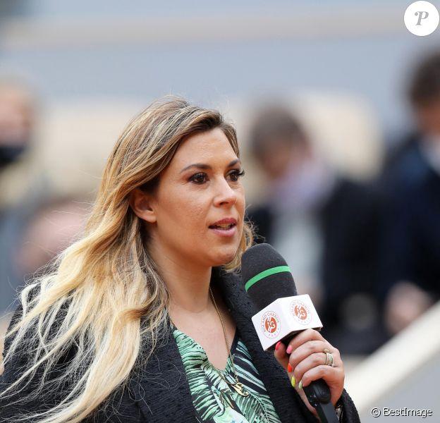 Marion Bartoli, enceinte, lors des internationaux de tennis de Roland Garros à Paris
