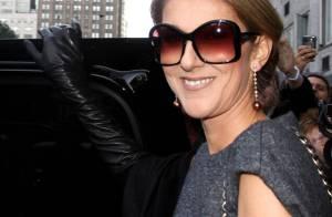 Céline Dion, très chic mais... elle cache ses rondeurs de future maman !