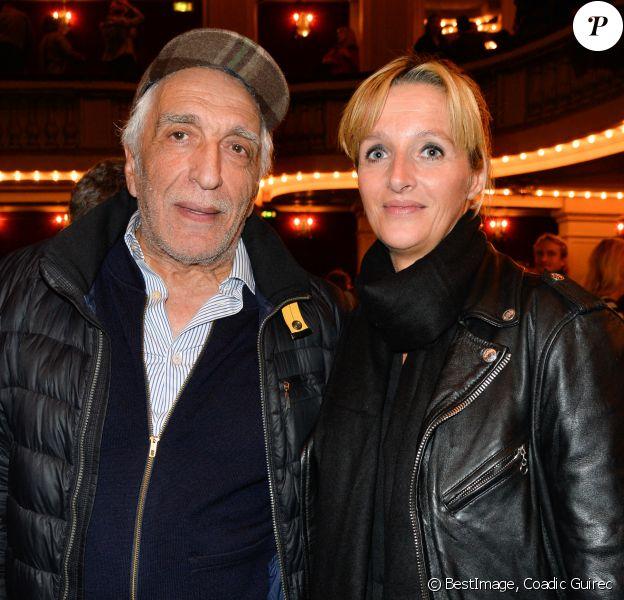 """Gérard Darmon et sa femme Christine - Générale de la pièce """"L'heureux élu"""", une comédie de Eric Assous au Théâtre de la Madeleine à Paris. © Coadic Guirec/Bestimage"""