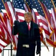 Le président Donald Trump prononce un discours de protestation contre la certification de l'élection de Joe Biden par le Congrès devant le parc de l'Ellipse à Washington le 6 janvier 2021.  © Carol Guzy/ZUMA Wire)