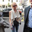 Lindsay Lohan sort de la boutique Ungaro à Paris fin septembre 2009