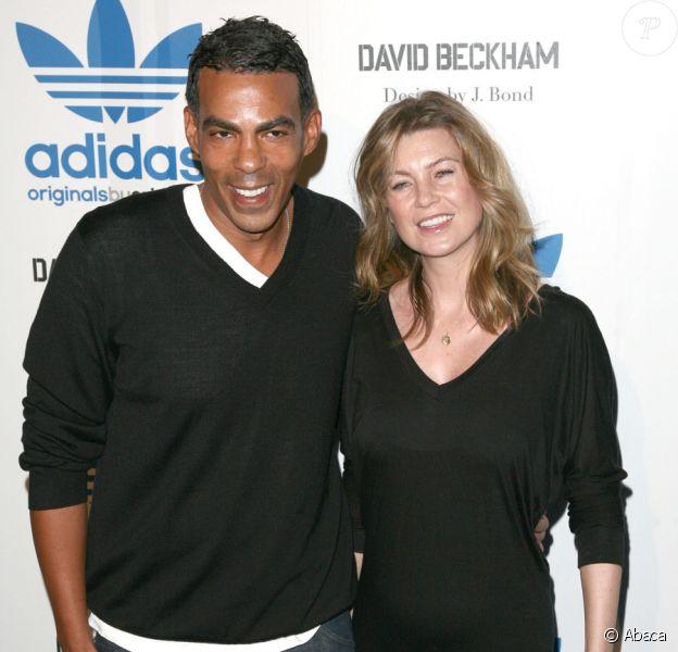 Ellen Pompeo et son mari Chris Ivery lors du lancement de la collection Adidas par David Beckham le 30 septembre 2009 à Los Angeles