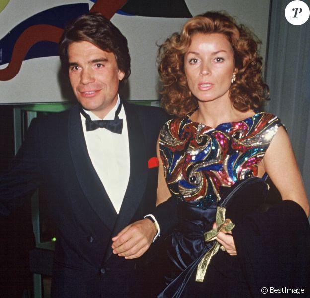 Bernard Tapie et sa femme Dominique à Paris dans les années 80.