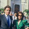 Bernard Tapie et sa femme Dominique en 1985.