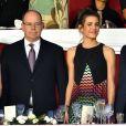 Le prince Albert II de Monaco, Charlotte Casiraghi et Gad Elmaleh - Soirée de cloture du 20ème Jumping International de Monte-Carlo au Port Hercule de Monaco à Monte-Carlo, le 27 juin 2015.