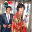 Archives - Anny Duperey et Bernard Giraudeau lors du festival de Cannes. 1987.