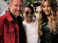 Cathy Guetta : Mini-robe en cuir pour retrouver David avec leurs enfants à Dubaï