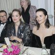 Dany Boon, Marion Cotillard, Juliette Binoche - Dîner de la cérémonie des César au Fouquet's à Paris le 2 mars 2017. © Olivier Borde-Dominique Jacovides/Bestimage
