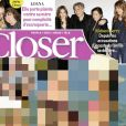 """Couverture du dernier numéro de """"Closer"""" paru le 12 février 2021 en kiosques"""