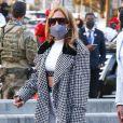 Exclusif - Jennifer Lopez et son fiancé Alex Rodriguez arrivent pour le Super Bowl 2021 au Raymond James Stadium de Tampa, Floride, Etats-Unis, le 7 février 2021.