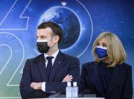 """Brigitte et Emmanuel Macron, couple assorti pour l'exploit de """"Perseverance"""""""