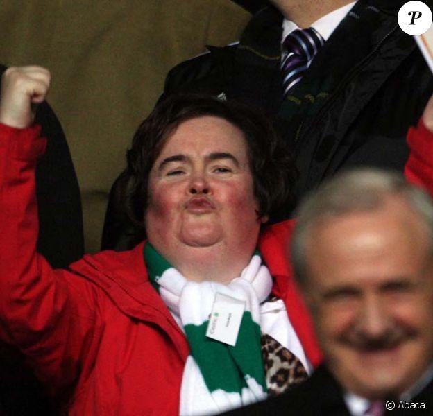 Susan Boyle supporte son équipe des Celtic à Glasgow le 22 octobre 2009 !