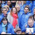 Isabelle Balkany, Agnès Pottier Dumas, David Xavier Weiss - Agnès Pottier Dumas lance sa campagne pour les élections municipales. Levallois, Place de la République, le 12 janvier 2020. © Alain Guizard /Bestimage