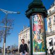 Exclusif - Mika et neuf autres artistes redonnent des couleurs à Paris. Le 28 février 2021. ©Cyril Moreau / Bestimage