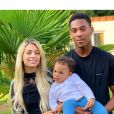 Mélanie Da Cruz, son mari le footballeur Anthony Martial et leur fils Swan.