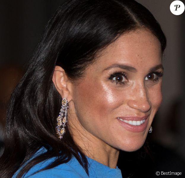 Meghan Markle, duchesse de Sussex arrive à un dîner d'Etat