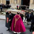 Sorties des Obsèques du danseur étoile Patrick Dupond en l'église Saint-Roch à Paris, France, le 11 mars 2021.