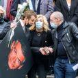 Brigitte Fossey, Véronique de Villèle, Nicoletta, Gilles Muzas - Sorties des Obsèques du danseur étoile Patrick Dupond en l'église Saint-Roch à Paris, France, le 11 mars 2021.