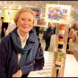 Michèle Morgan à son exposition Inclusions et Portraits. 13/10/09