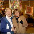 Michèle Morgan et Danièle Thompson à l'exposition Inclusions et Portraits. 13/10/09