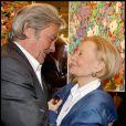 Alain Delon et Michèle Morgan à l'exposition Inclusions et Portraits. 13/10/09