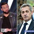 Bernard Montiel raconte sa soirée couscous avec Nicolas Sarkozy sur C8. Le 16 mars 2021.