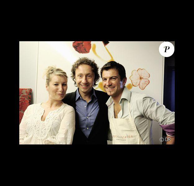 Elisabeth Buffet, Eric Guérin et Stéphane Bern à la soirée culinaire organisée en l'honneur de la pomme de terre Princesse Amandine. 15/10/09